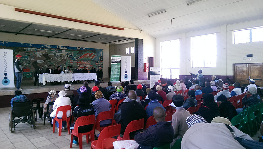 HOUSING WORKSHOP: SOWETO 10TH JUNE 2015 – Phiri Hall