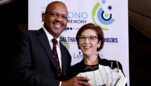 Dali Mpofu with Isabel Goodman