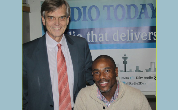 Patrick Bracher with guest Mr Tseliso Thipanyane who is on CASAC's Executive Committee