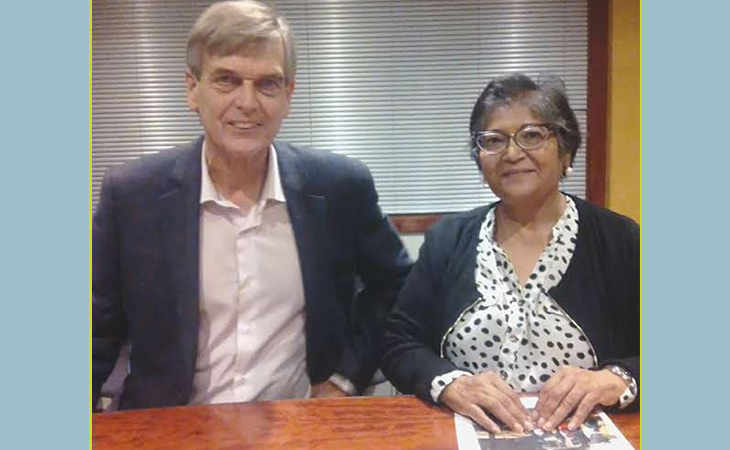 Patrick Bracher speaks to Yasmin Sooka, the Executive Director of the Foundation for Human Rights